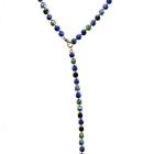 Kesselkette, lang, 76cm, Anhang 17cm, Blau-u. Grüntöne