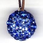 Kugelanhänger, 3cm Durchmesser, Saphire