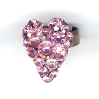 Herzring, 2,5x2cm, Light Rose
