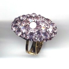 Ovaler Ring, 2,8x1,8cm, Light Amethyst